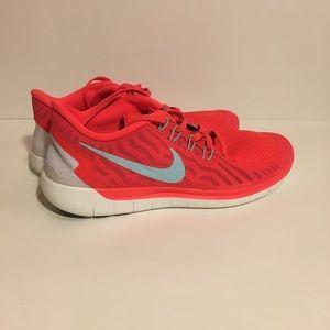 NWOT Women's Nike Free Run 5.0 Bright Crimson